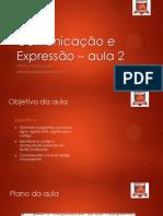 Comunicação e Expressão - aula 2