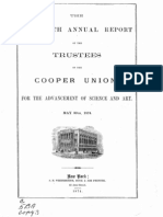The Fifteenth Annual Report of the Trustees of the Cooper Union for the Advancement of Science and Art