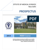 AIIMS MBBS 2014 Prospectus