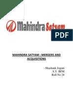 Satyam Takeover by Mahindra