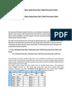 Cara Membuat Data Base Sederhana Dan Tabel Pencarian Data Microsoft Excel