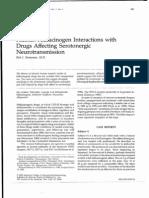 Human Hallucinogen Interactions With Drugs Affecting Serotonergic Neurotransmission