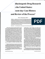Human Hallucinogenic Drug Research in the United States; A Present-Day Case History and Review of the Processf