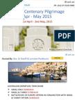 ANZAC Centenary Pilgrimage Apr - May 2015