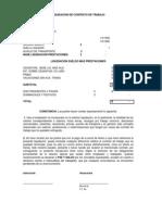 Formato Liquidación de Contrato