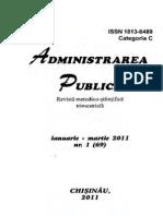 Revista Administrarea Publica Ianuarie-martie 2011 Nr. 1 69