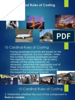 10 Cardinal Rules of Costing