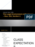 Business Law and Legal Environment. Spring 2014 - 1st Class