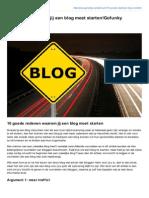 Gofunky-Academy.nl-10 Redenen Waarom Jij Een Blog Moet StartenGofunky Academy