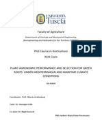 Plant Agronomic Performance and Selection for Green Roofs Under Mediterranean and Maritime Climate Conditions