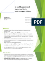 power point presentation on Analysis and Reduction of Polarization Mode dispersion
