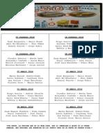 Lista de Meriendas
