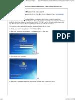 Reset Your Forgotten Windows 7 Password