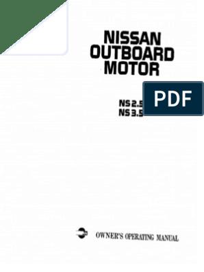 nissan 3.5hp service manual | gasoline | motor oil  scribd
