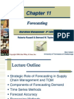 Operations Management 5th Edition Ch 11 - Forecasting by Robert Russell & Bernard W. Taylor
