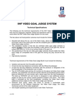IIHF Video Goal Judge System - Technical Specifications