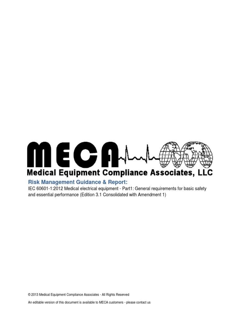 Meca risk management guidance report iec 60601 1 ed 31 rev00 meca risk management guidance report iec 60601 1 ed 31 rev00 risk management verification and validation biocorpaavc