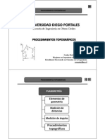 Presentación N° 6 - procedimientos topográficos