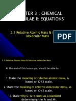 Relative atomic mass & Relative molecular mass