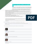 Caracterização da avaliação formativa e distinção da sua vertente sumativa