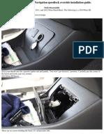 2010-Up Prius HB Navigation Speedlock Override Installation Guide