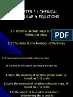 Relative atomic/molecular mass & Mole concept