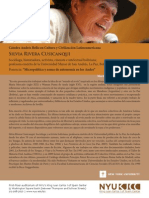 Lecture by Silvia Rivera Cusicanqui, Bolivian Historian at NYU