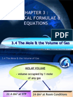 Relationship between No. of moles of  gas with volume