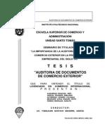 DOCUMENTOS DE AUDITORIA EN COMERCIO EXTERIOR