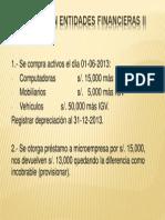 Evaluación Entidades Financieras II