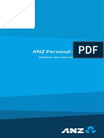 ANZ Personal Banking General Fees Charges