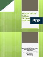 Kaidah Dasar Moral, Dilema Etik Dan Primafacie