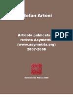 StefanArteni_ArticolePublicateInRevistaAsymetria2007-2008