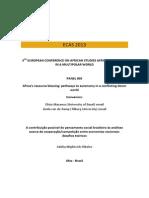 Adelia Miglievich Ribeiro - A contribuição possível do pensamento social brasileiro às análises acerca da cooperação-competição entre economias nacionais desafios teóricos (Paper ECAS 2013)