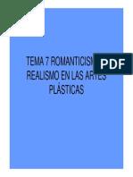 Tema 7 Romanticismo y Realismo en Las Artes Plasticas