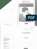 Calderón. Pier Paolo Pasolini.