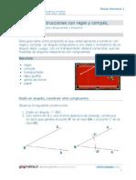 construcción de ángulos y bidectrices
