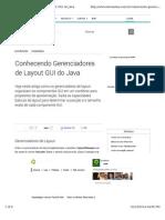 Gerenciador de Layout Java