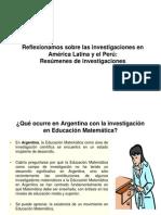 investigaciones en América Latina