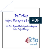 TenStep MiniBook 100 Lessons in Project Management