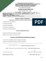 examenes de recuperacion  PRIMEROS diseño y creacion plastica