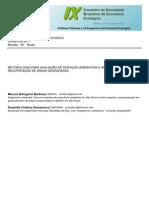 METODOLOGIA PARA AVALIAÇÃO DE SERVIÇOS AMBIENTAIS E APLICAÇÕES EM RAD