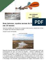 Sem inverno, açudes secam da Paraíba secam em 10 meses