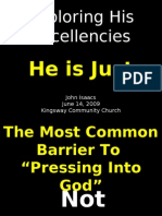 06-14-2009 Exploring His Excellencies - His Justice