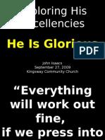 09-27-2009 Exploring His Excellencies - His Glory