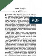 Felsenthal - Rabbi Patrick in Menorah 1889