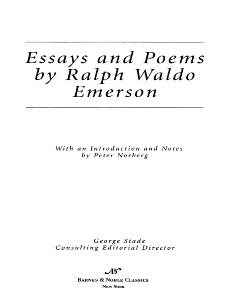 ralph emerson essays and poems ralph waldo emerson ralph emerson essays and poems ralph waldo emerson transcendentalism