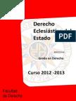 PROGRAMA ECLESIÁSTICO GRADO 2012 2013