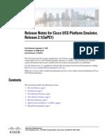 Cisco UCS Release Notes Version 2 1(3aPE1)