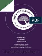 Prospectus for The West Hampstead International School